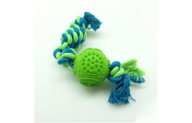 橡胶多功能洁齿绳结圆球