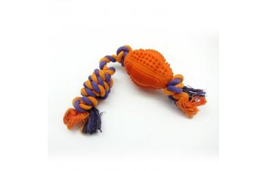 橡胶多功能洁齿绳洁橄榄球