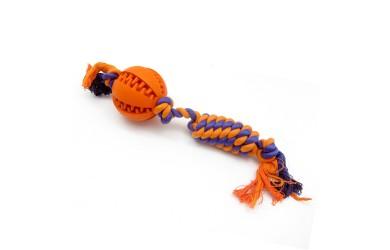 橡胶洁齿圆球连绳结